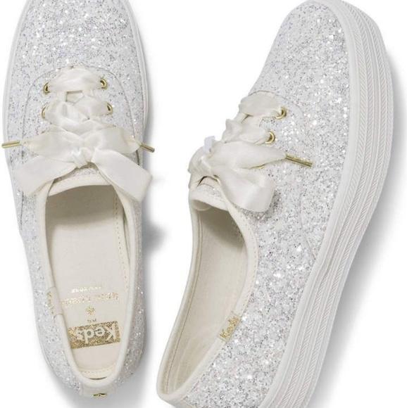 797a5a5cd40 Keds X Kate Spade Triple Glitter Sneakers Shoes - Keds X Kate Spade New  York Triple